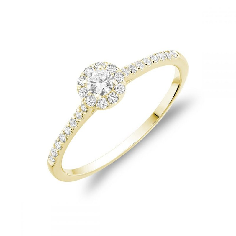 RNB Bijoux Jewellery Round Diamond Halo Engagement Ring