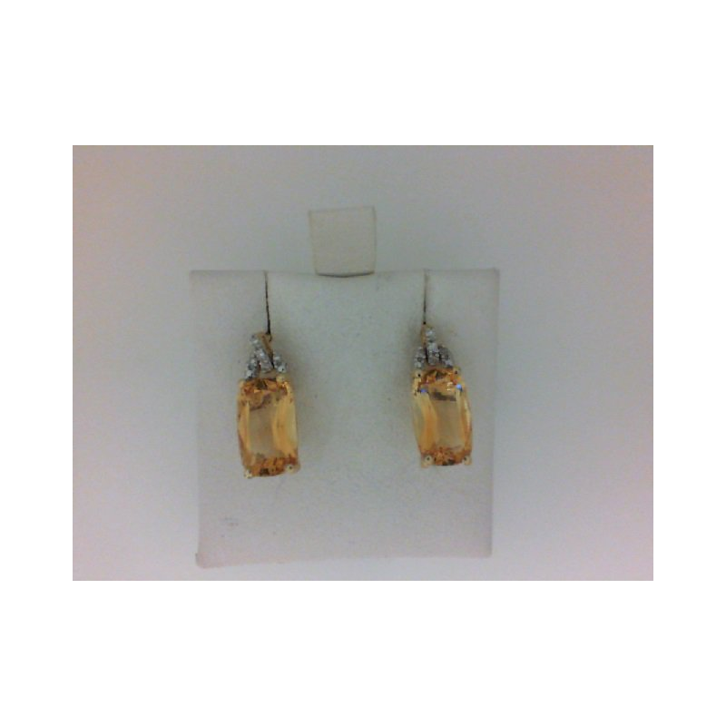The Collection Citrine And Diamond Earrings