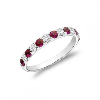 Pavé Ruby & Diamond Ring
