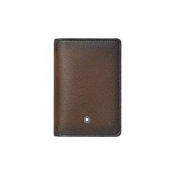Montblanc Leather Meisterstuck Sfumato Business Card Holder U Gusset Brown