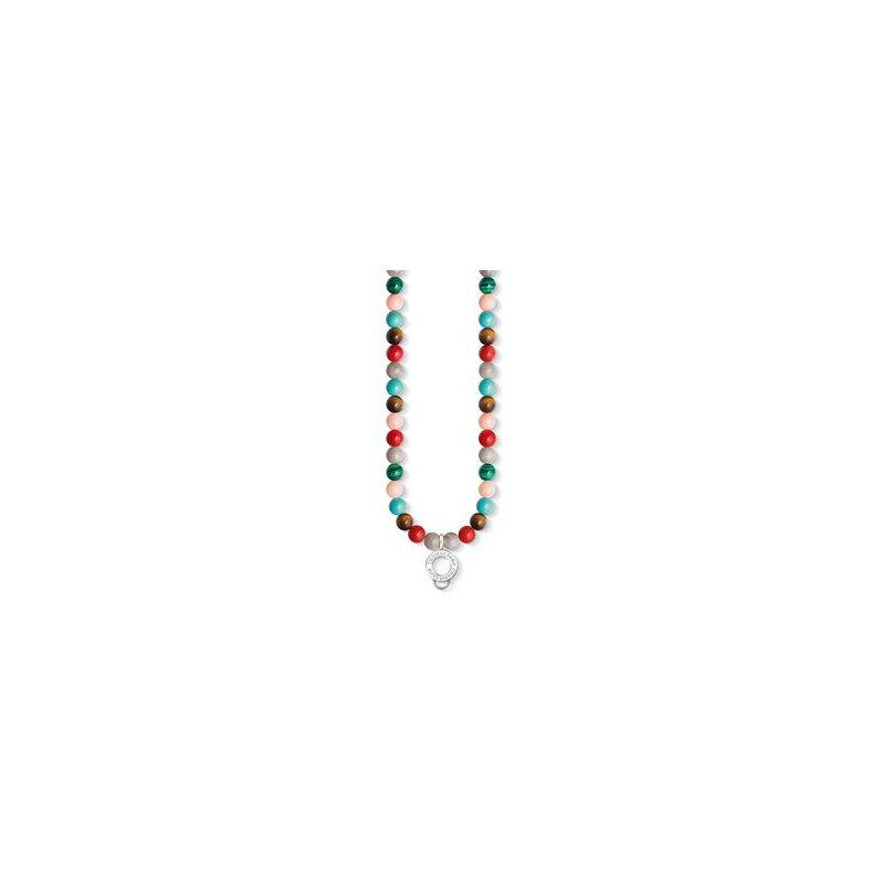 Thomas Sabo Simulated Charm Necklace