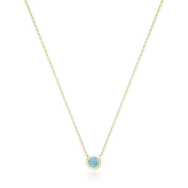 RNB Bijoux Jewellery Bezel Aquamarine Pendant