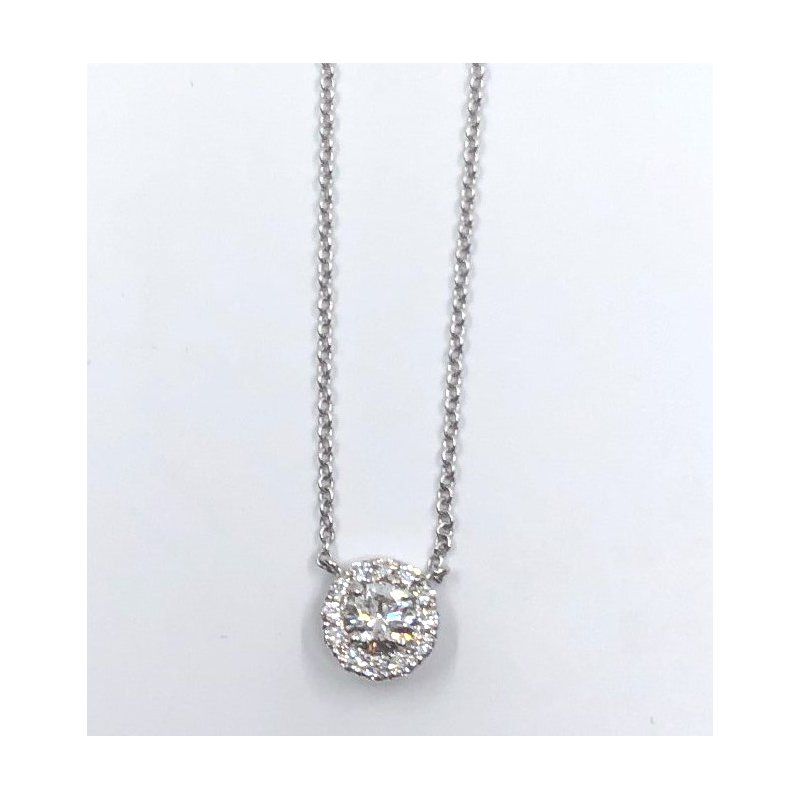 The Collection Halo Diamond Pendant
