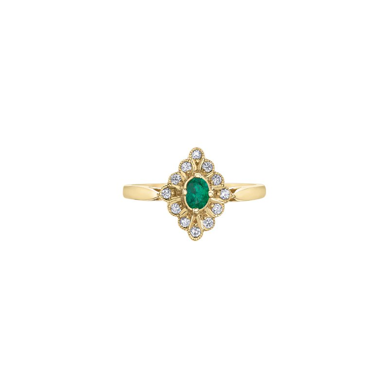The Collection Emerald and Diamond Ring