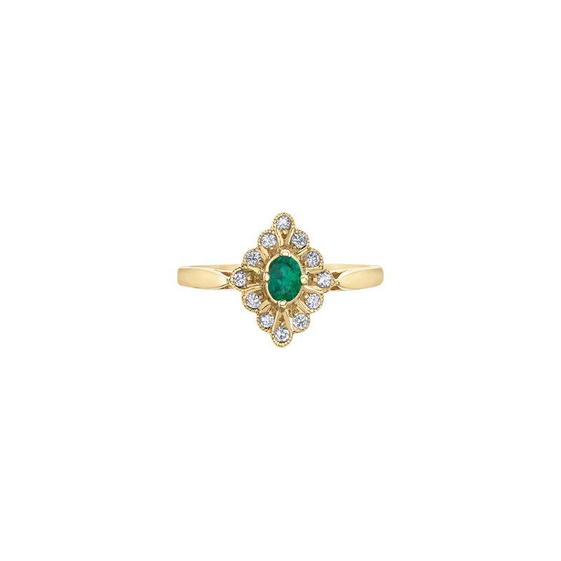 Corona Jewellery Emerald and Diamond Ring