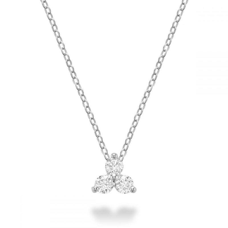RNB Bijoux Jewellery Three Stone Diamond Pendant