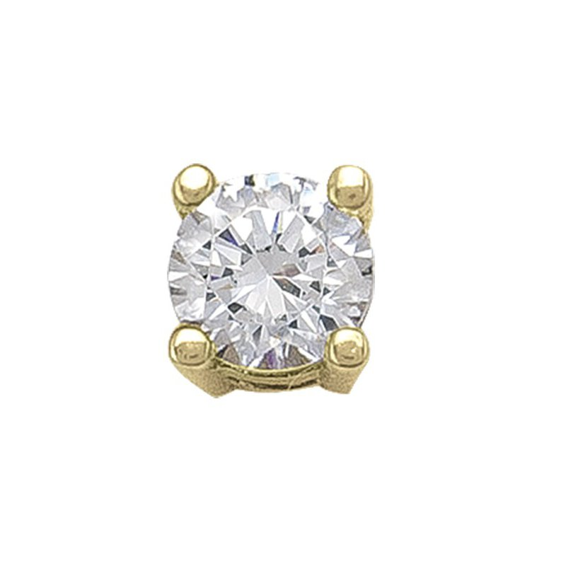 The Collection 4 mm Cz Stud Earring