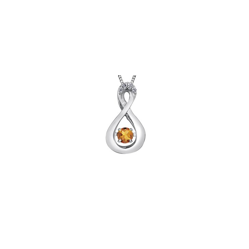 The  Collection Citrine and Diamond Pulse Pendant