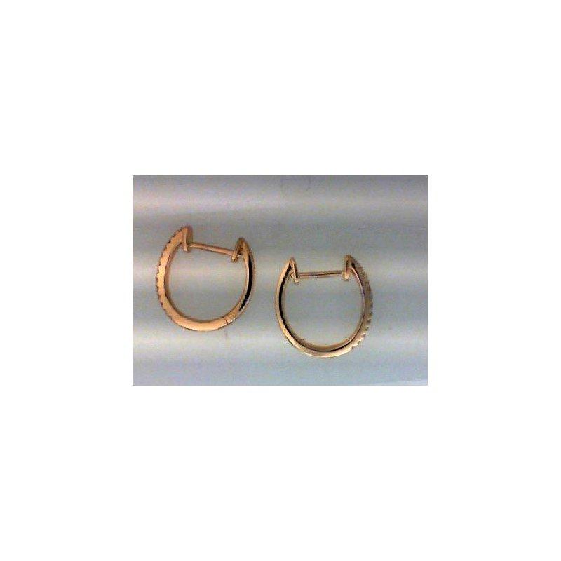 RNB Bijoux Jewellery Diamond Huggie Earrings