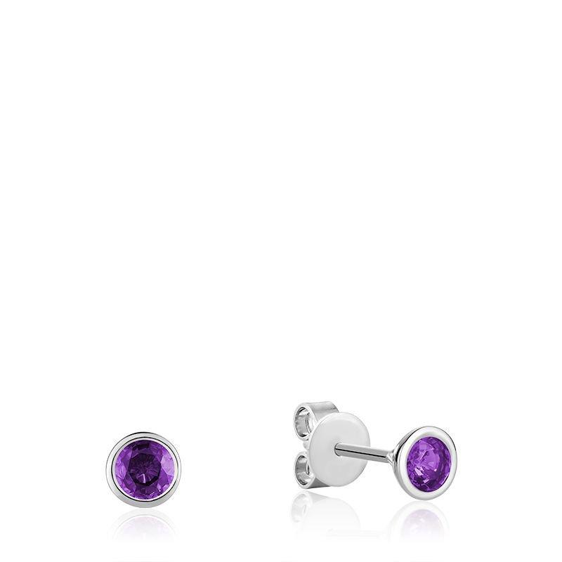 RNB Bijoux Jewellery Bezel Set Amethyst Stud Earrings