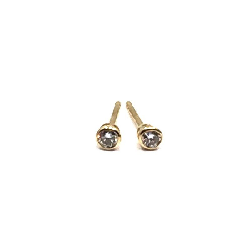 The Collection Diamond Bezel Studs