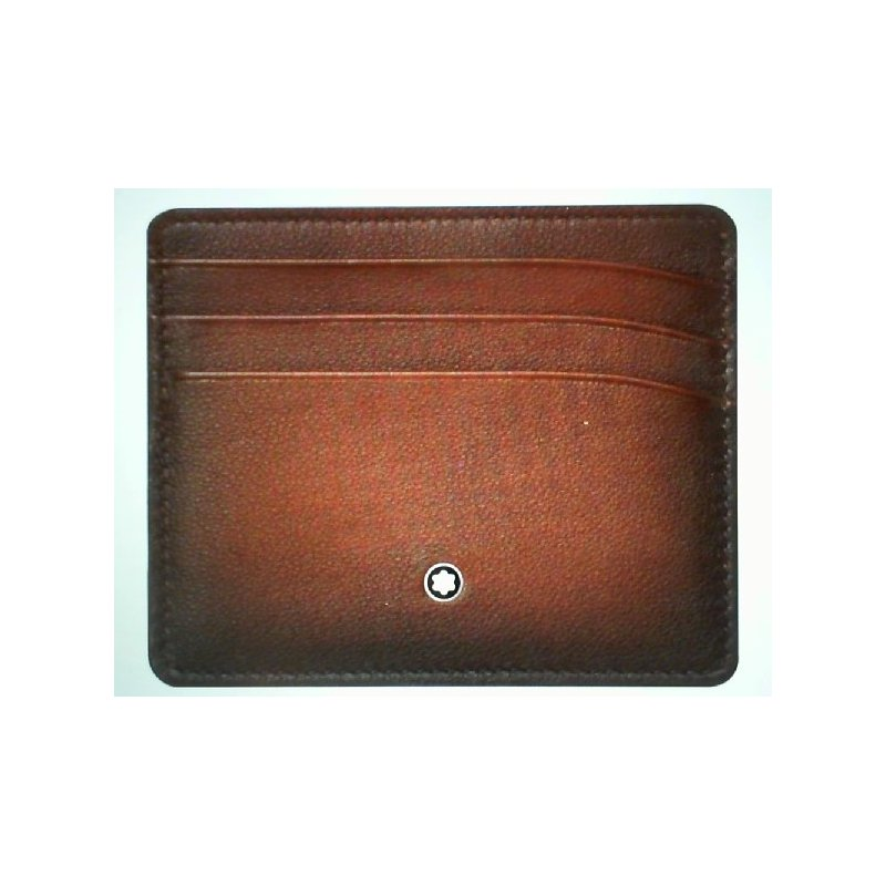Montblac Montblanc Leather Meisterstuck Sfumato Pocket 6cc Brown