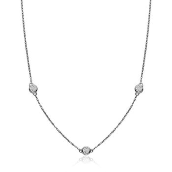 Bezel Diamond by the Yard Necklace