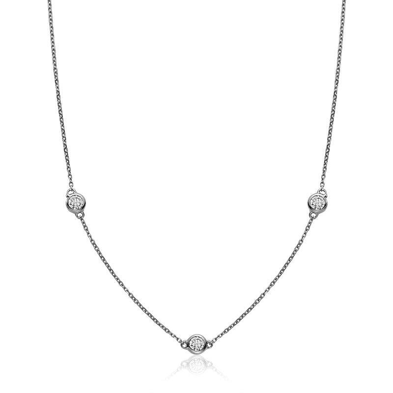 RNB Bijoux Jewellery Bezel Diamond by the Yard Necklace
