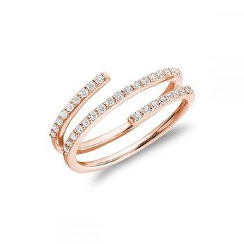 Linear Double Wrap Diamond Ring
