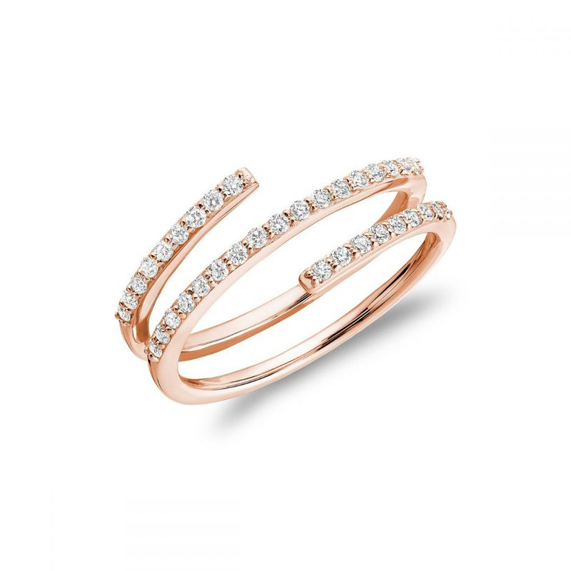 RNB Bijoux Jewellery Linear Double Wrap Diamond Ring