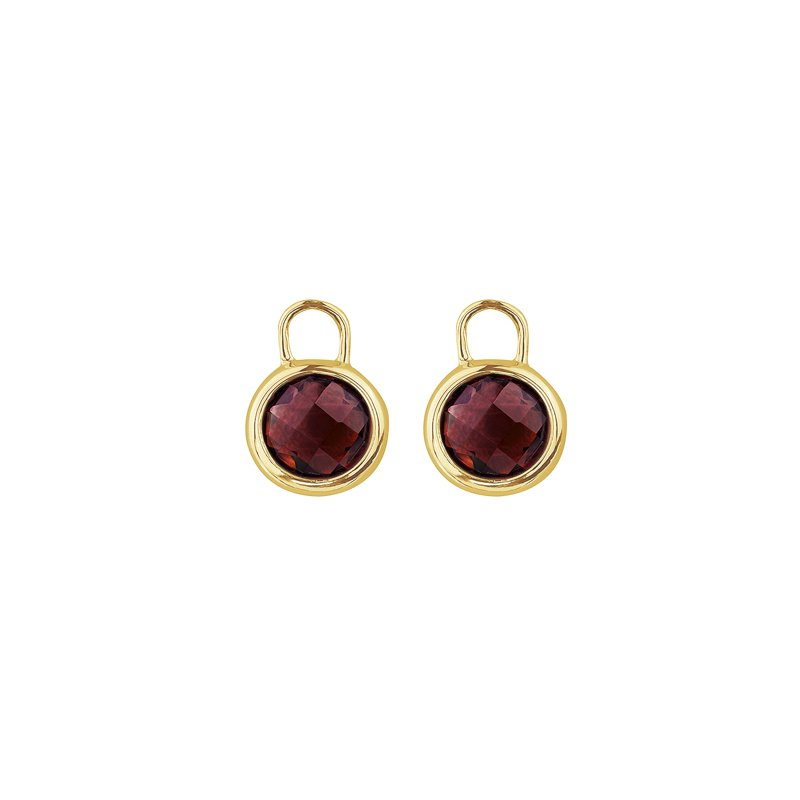 The Collection Garnet Earring Enhancers
