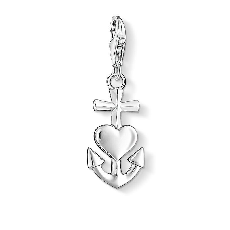 Thomas Sabo Charm Pendant Cross, Heart And Anchor