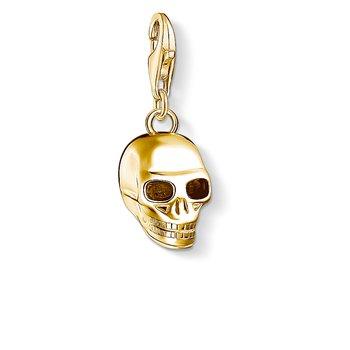 Charm Pendant Skull Gold