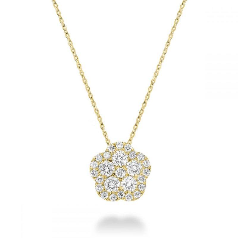 RNB Bijoux Jewellery Hollow Flower Diamond Pendant