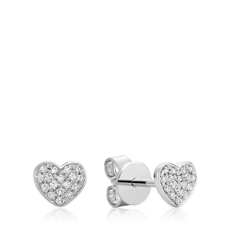 RNB Bijoux Jewellery Heart Diamond Stud Earrings