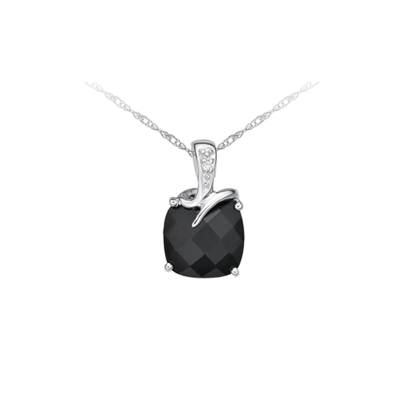 The Collection Onyx And Diamond Pendant