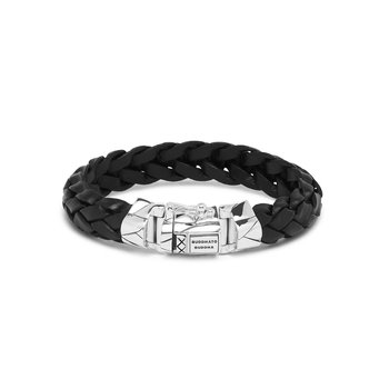 Mangky Black Leather Bracelet