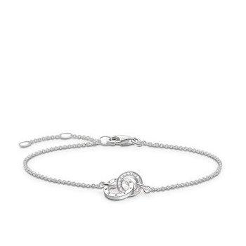 """Silver Diamond bracelet """"Together Forever"""""""