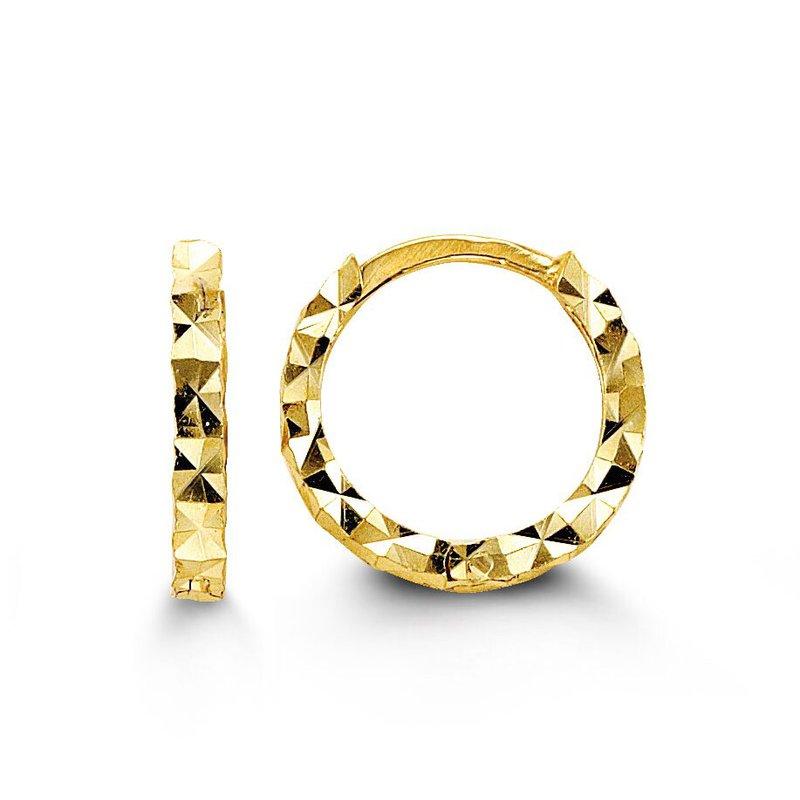 The  Collection Diamond Cut Huggie Earrings