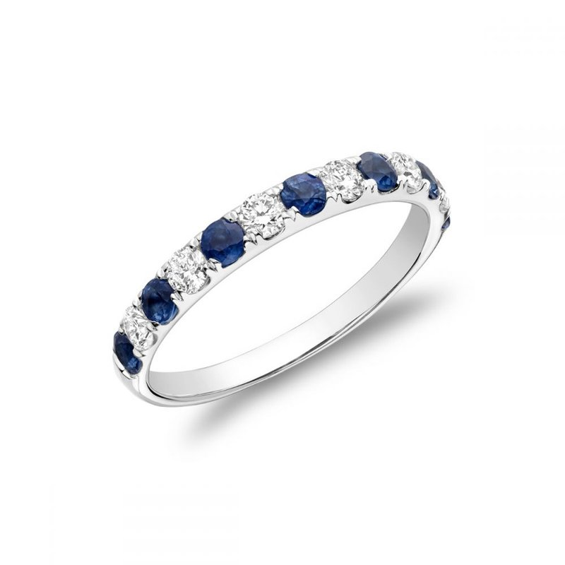 RNB Bijoux Jewellery Pavé Blue Sapphire & Diamond Ring