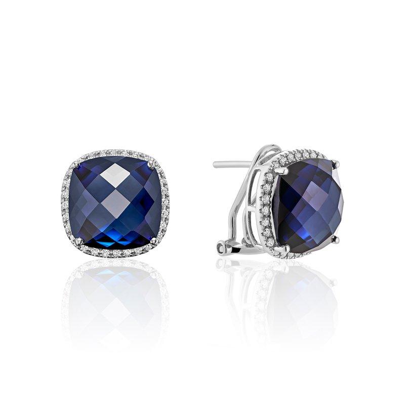 RNB Bijoux Jewellery Created Sapphire And Diamond Earrings