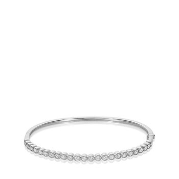 Semi Eternity Diamond Milgrain Bangle
