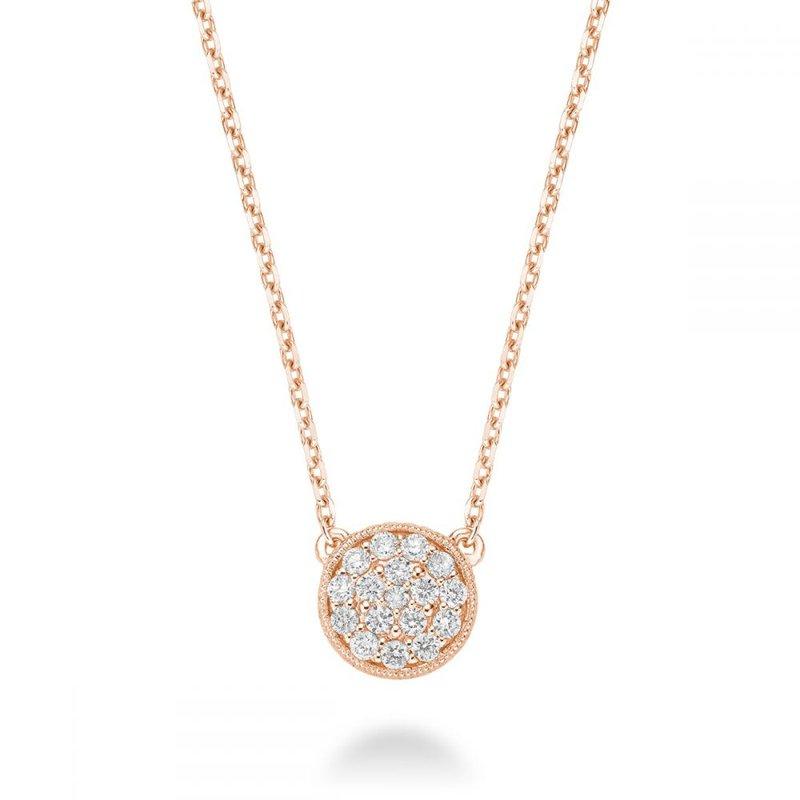 RNB Bijoux Jewellery Circle Diamond Milgrain Necklace