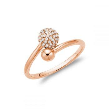 Diamond Pave Crossover Ring