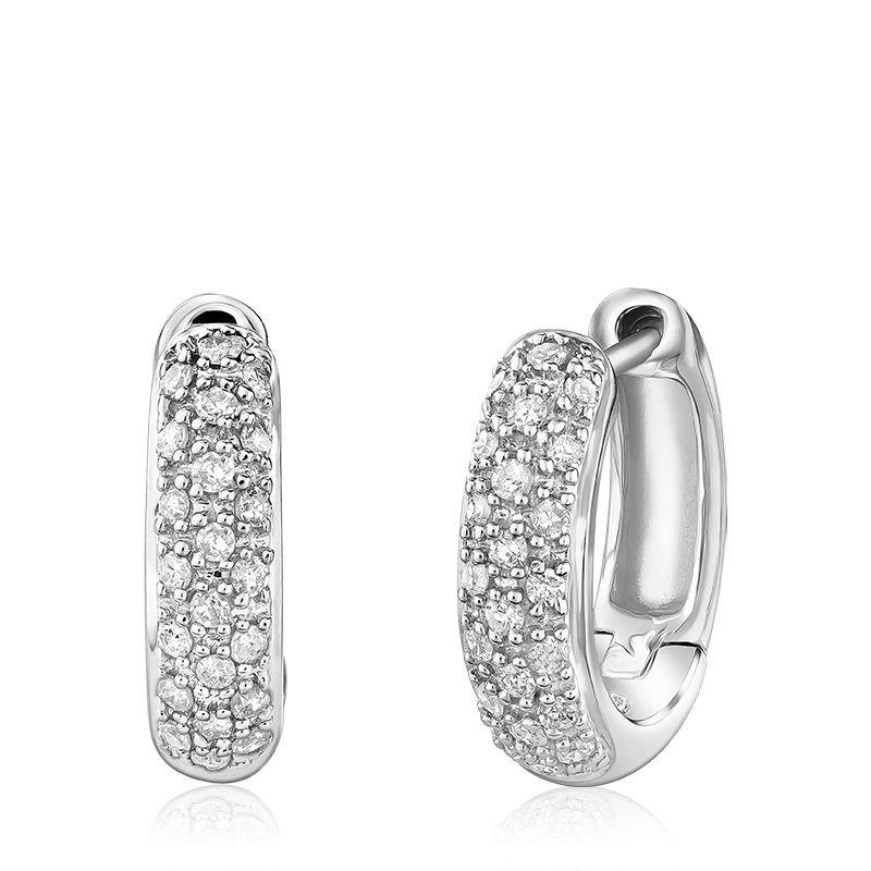 RNB Bijoux Jewellery Diamond Pave Huggie Earrings