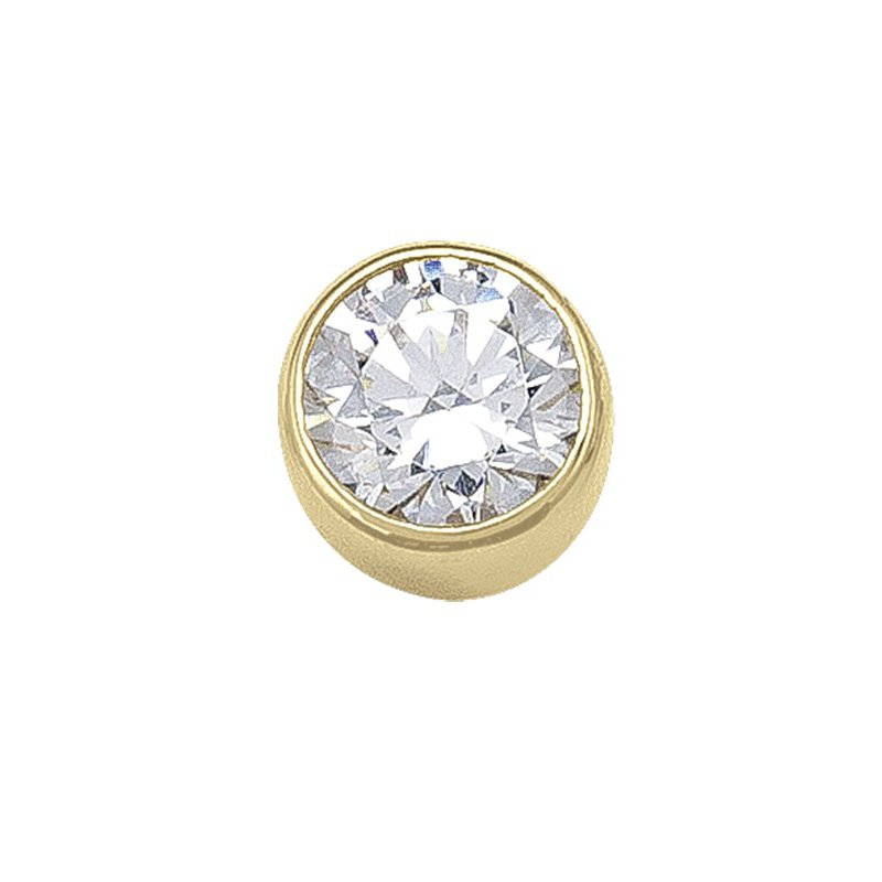 The Collection 4MM Bezel CZ Stud Earring