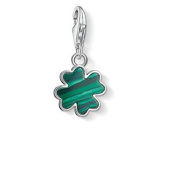 Charm Pendant Green Cloverleaf