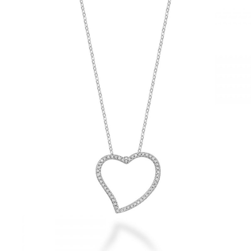 RNB Bijoux Jewellery Asymmetrical Diamond Heart Pendant