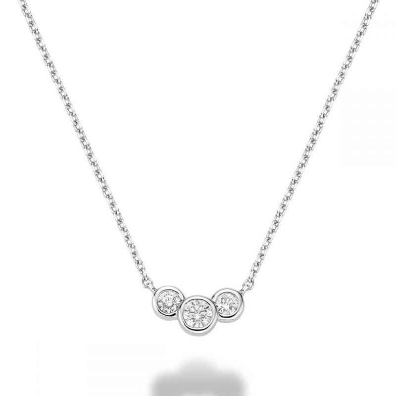 RNB Bijoux Jewellery Triple Bezel Diamond Necklace