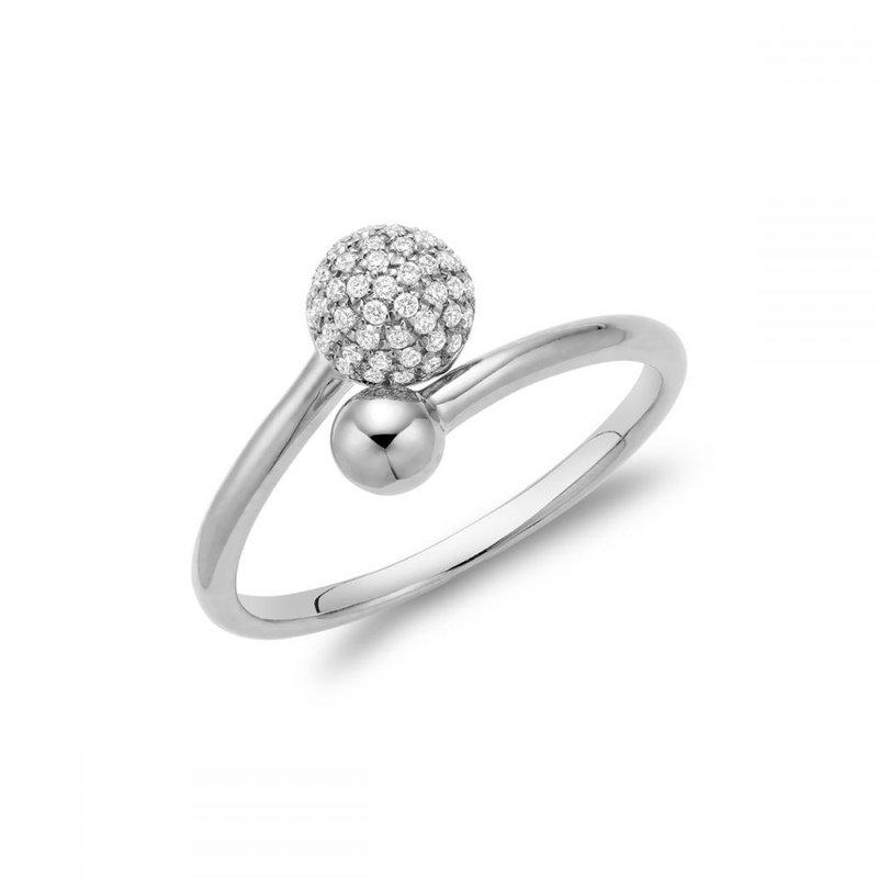RNB Bijoux Jewellery Diamond Pave Crossover Ring