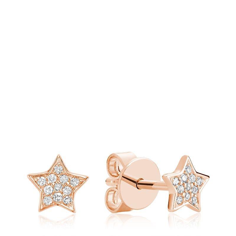 RNB Bijoux Jewellery Star Diamond Stud Earrings