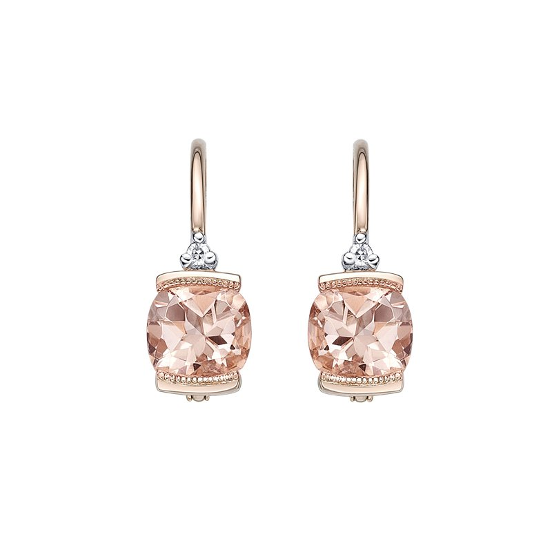 The Collection Morganite And Diamond Earrings