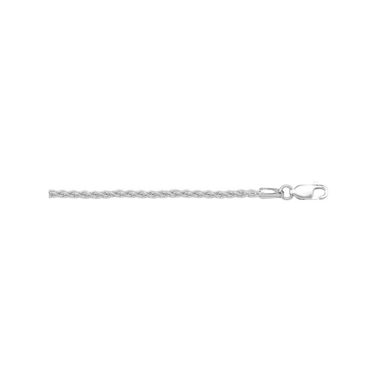 The Collection Gold Solid Round Wheat Link Chain
