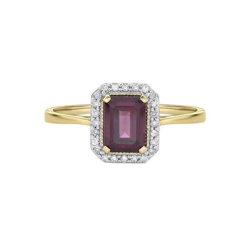 The Collection Rhodolite Garnet And Diamond Ring