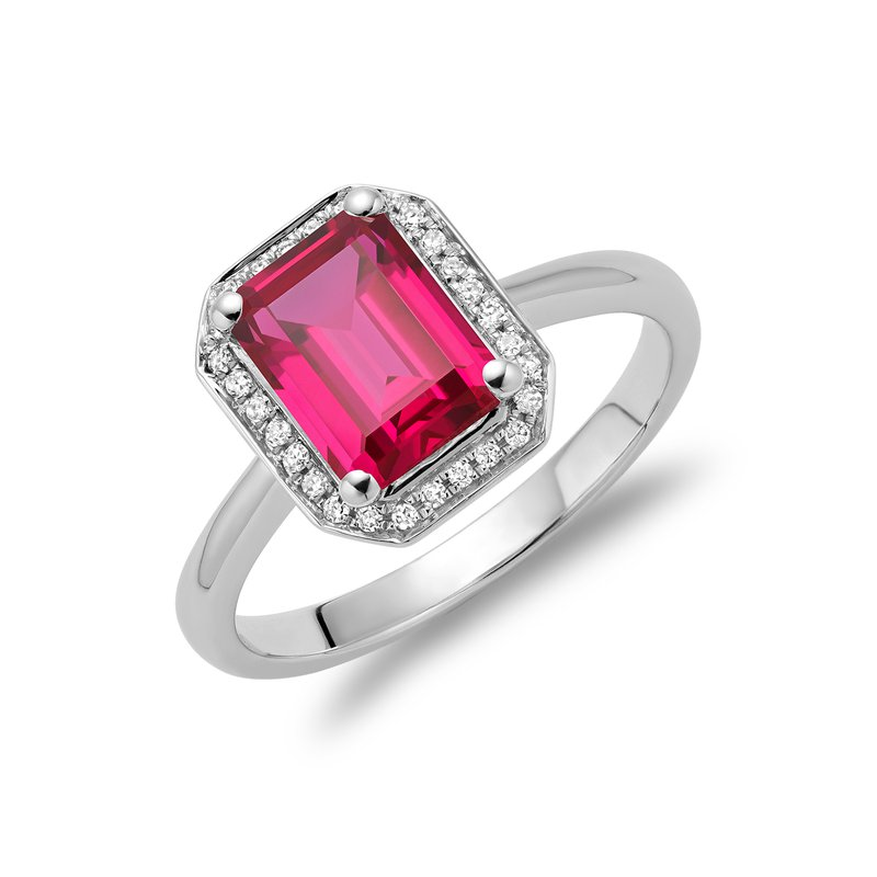 RNB Bijoux Jewellery Created Ruby and Diamond Ring