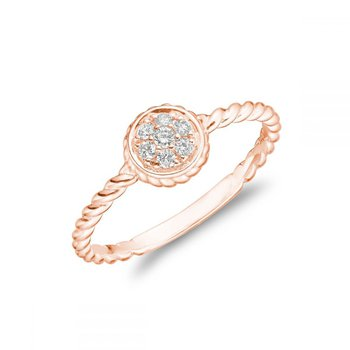 Round Rope Diamond Ring