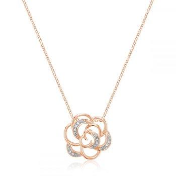 Rose Flower Diamond Pendant