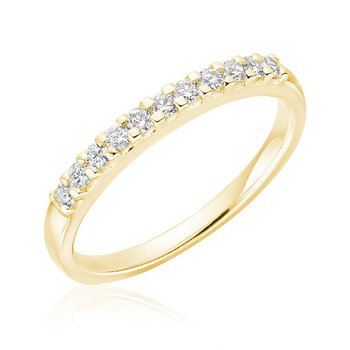 Pave Semi Eternity Diamond Band