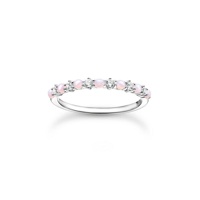 Thomas Sabo Ring Pink and White Stones