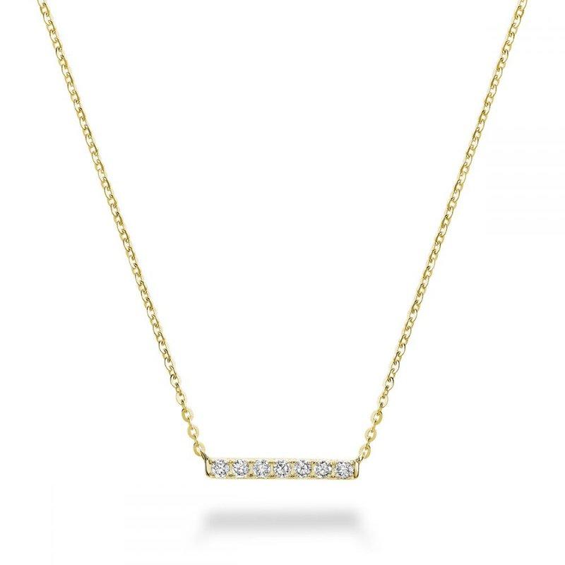 RNB Bijoux Jewellery Diamond Bar Pendant